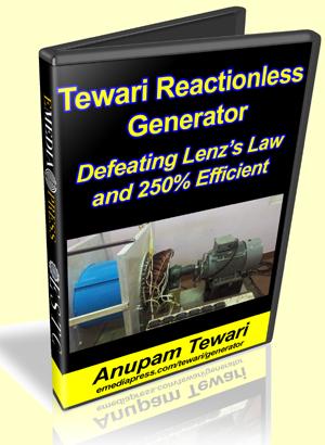 Tewari Reactionless Generator - RLG - by Anupam Tewari